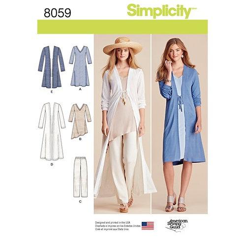 Simplicity 8059 Mantel, Jacke, Hose & Tunika