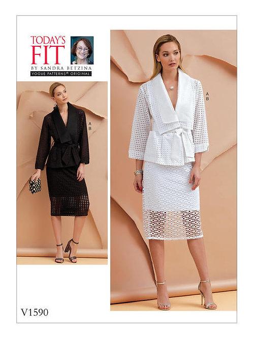 Vogue V1590 Jacke, Rock & Gürtel by Sandra Betzina