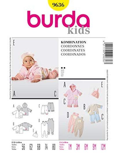 Burda 9636 süße Babykombination