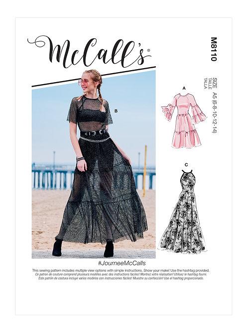 McCall's 8110 Kleid mit Rüschen