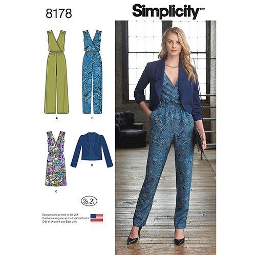 Simplicity 8178 Overall, Kleid & Jacke