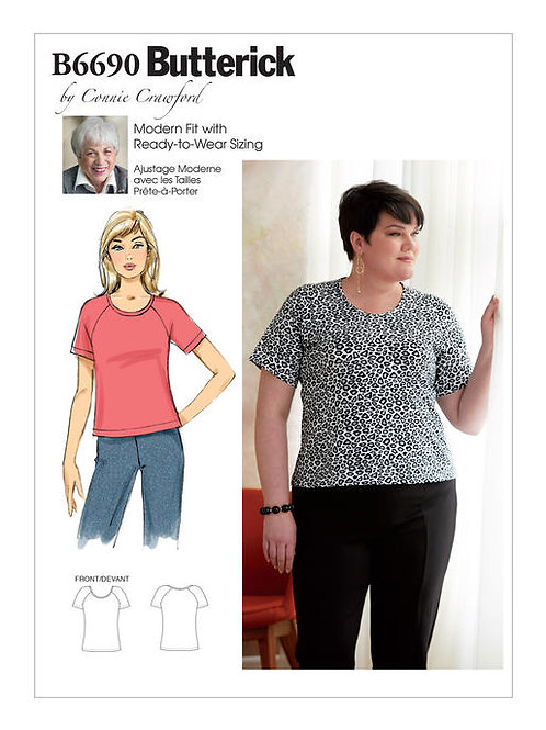 Butterick B6690 hüftlanges Shirt by Connie Crawford