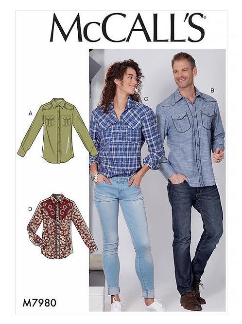 McCall's 7980 Damen- & Herrenhemd