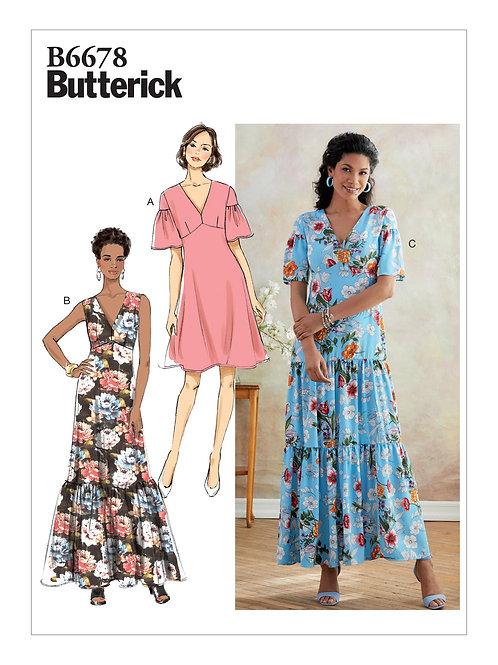 Butterick B6678 enges Kleid mit Variationen