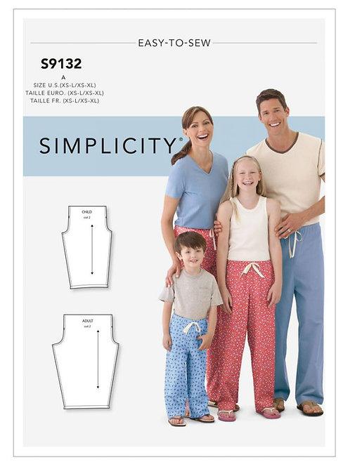 Simplicity 9132 Freizeithose für die ganze Familie