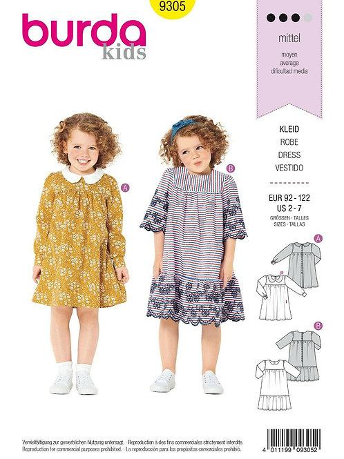 Burda 9305 Kinder-Kleid