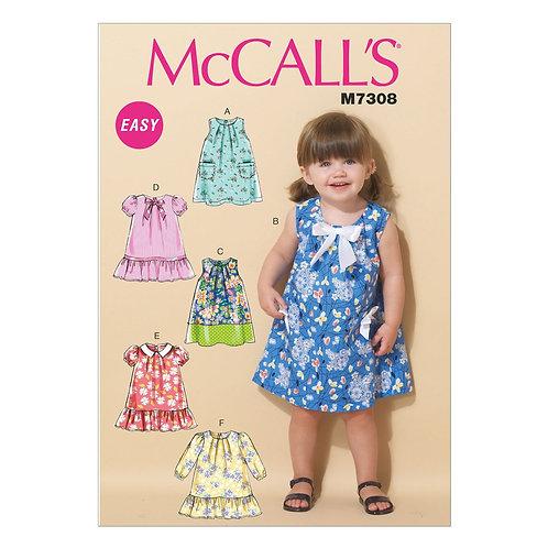McCall`s M7308 Mädchen-Kleidchen