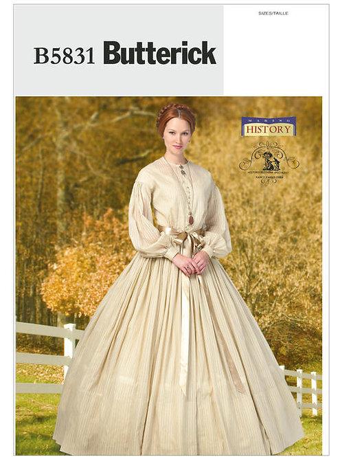 Butterick B5831 Südstaatenkleid