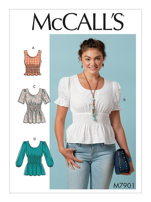 McCall's 7901 Top mit geraffter Taille