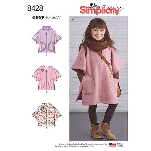 Simplicity 8428 Kinder - Poncho