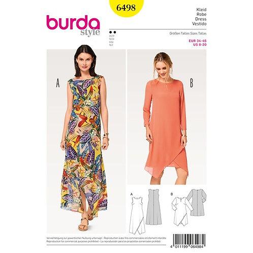 Burda 6498 Kleid in Wickeloptik