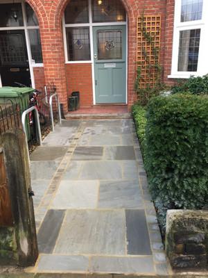 Grey Indian Sandstone pathway!