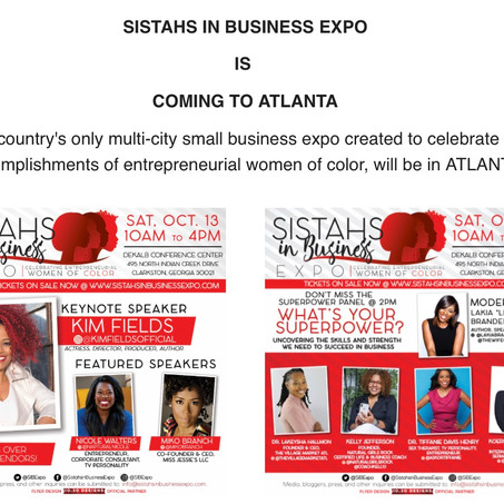 Sistahs in Business Expo Is Coming To Atlanta