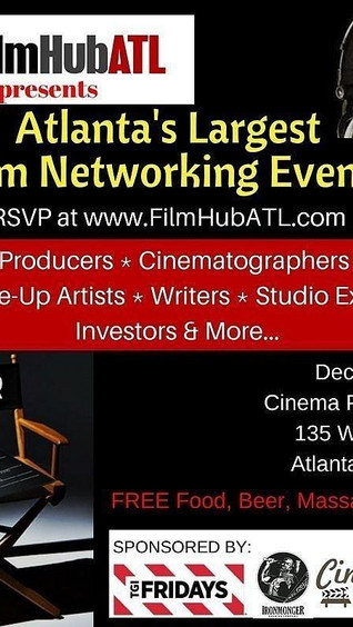 Dec 7th Film Networking Event 2017: Meet Over 350 Atlanta Film People