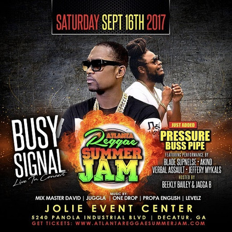 Only A Few Days Til Busy Signal + Pressure Live in Concert This Sat Sept 16th