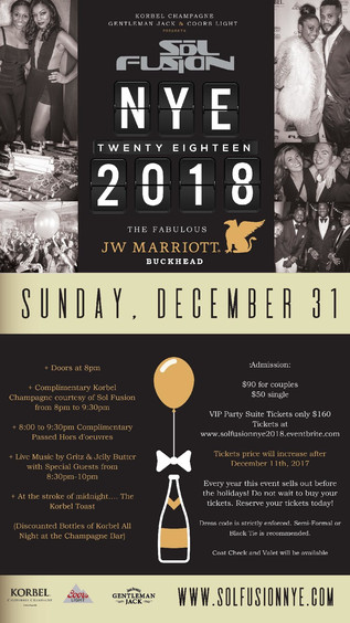 New Years Eve at The JW Marriott in Buckhead