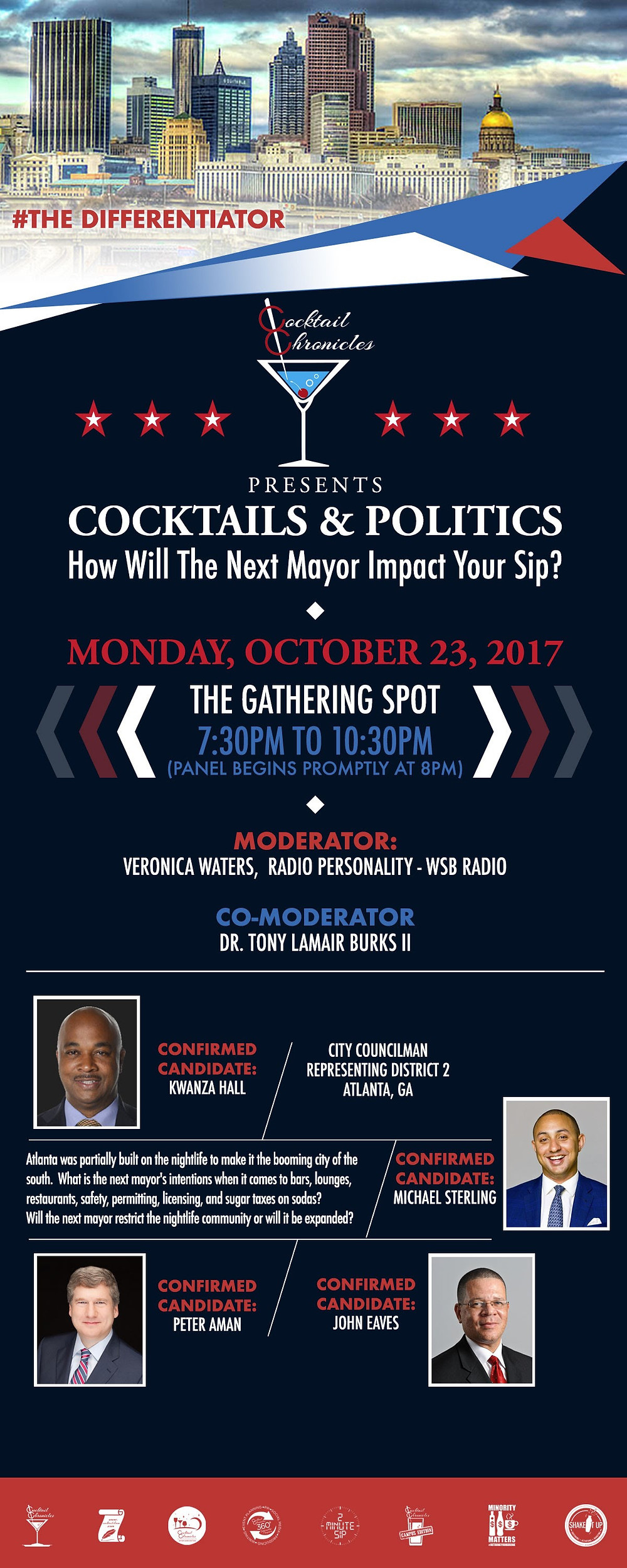 Mayoral Forum To Discuss Nightlife Of Atlanta On Social Media; Cocktails & Politics
