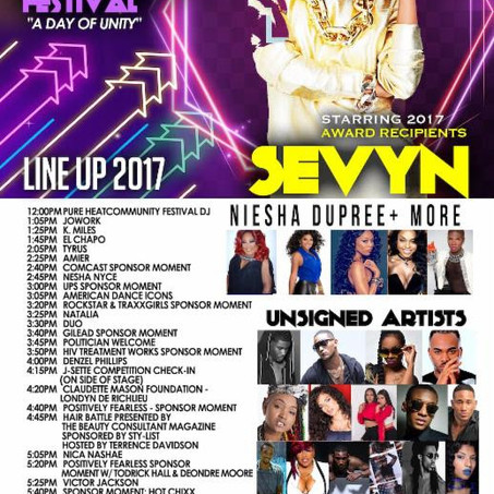 SEVYN STREETER SET TO RECEIVE HUMANITARIAN AWARD AT 2017 PURE HEAT COMMUNITY FESTIVAL ON SUNDAY, SEP