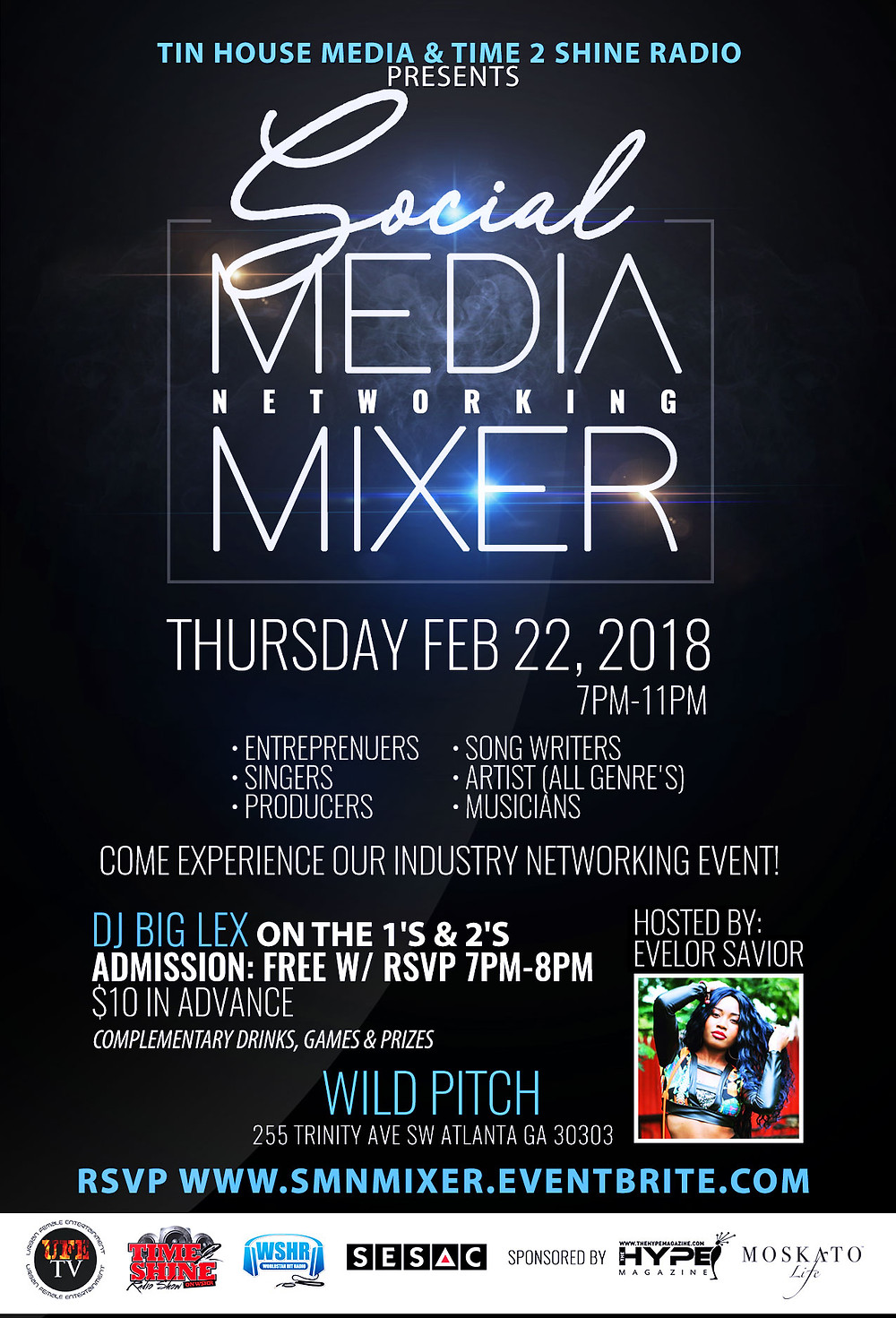 Feb 22nd Entertainment Industry Social Media Networking Mixer @Wild Pitch!