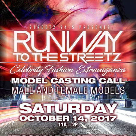 Model Casting Call - Runway To The Streetz ATL