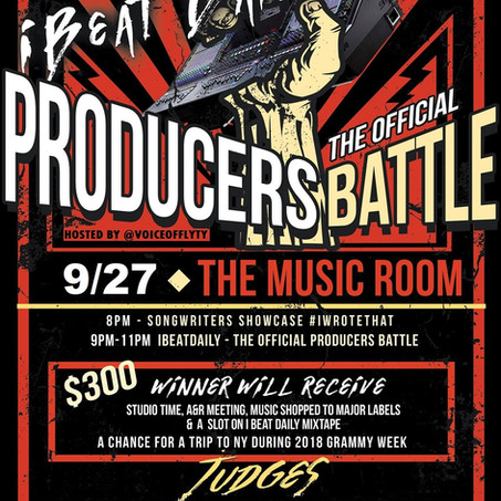 TONIGHT! I BEAT DAILY THE OFFICIAL PRODUCER BATTLE