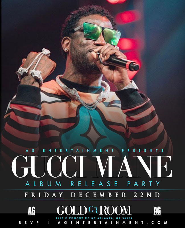 GUCCI MANE ALBUM RELEASE PARTY THIS FRIDAY AT GOLD ROOM