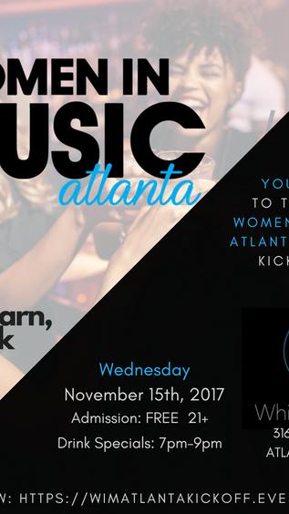 WOMEN IN MUSIC ATLANTA KICK-OFF PARTY