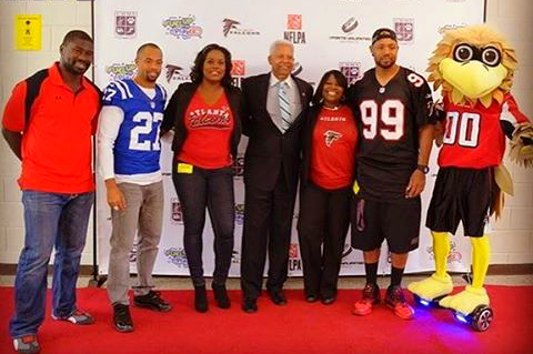 ex-falcons players team up with NFL Play 60 for their 10 year anniversary