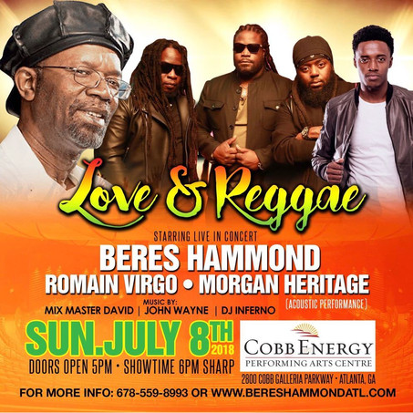 Beres Hammond and Friends Live Sunday July 8th