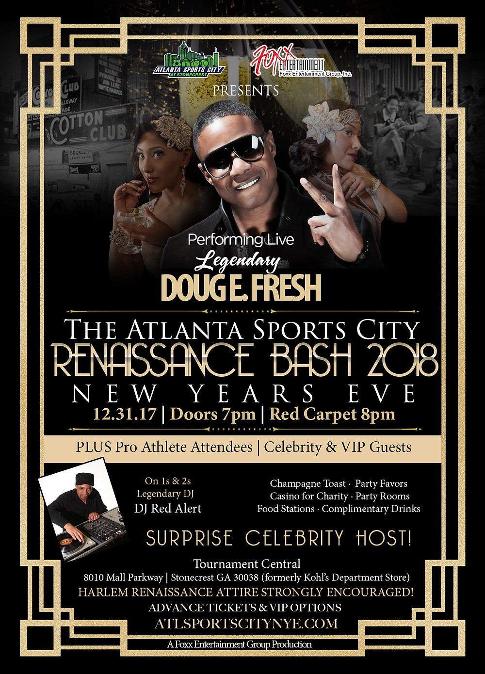 NYE w/ Doug E. Fresh and DJ Red Alert