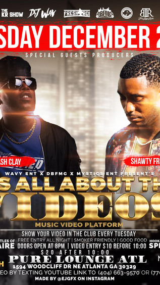 Tonight! It's All About the VIDEOS! (Music Video Showcase) @Pure Lounge ATL