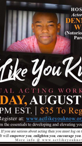 Virtual Acting Workshop - Atlanta