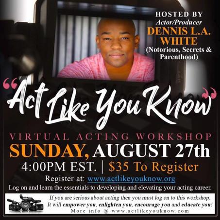Virtual Acting Workshop - Atlanta