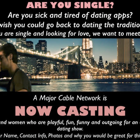 NEW DATING SHOW! SINGLE MEN AND WOMEN