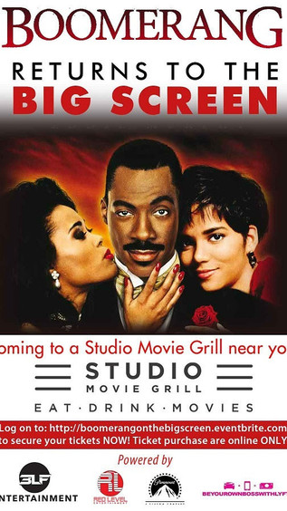 Boomerang on the BIG Screen for the Grand Opening of Studio Movie Grill in Marietta!