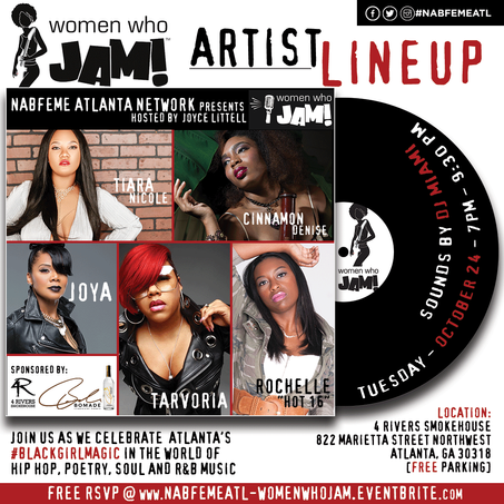 Oct 24th Celebrate #BlackGirlMagic at WOMEN WHO JAM!