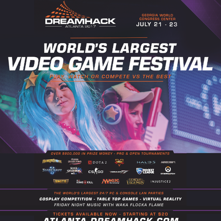 World's Largest Video Game Festival - DreamHack - Comes to Atlanta July 21-23