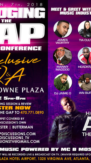 """Jan 7th Bridging The Gap Music Conference (To Register Text """"Bridging The Gap"""" to (470) 77"""