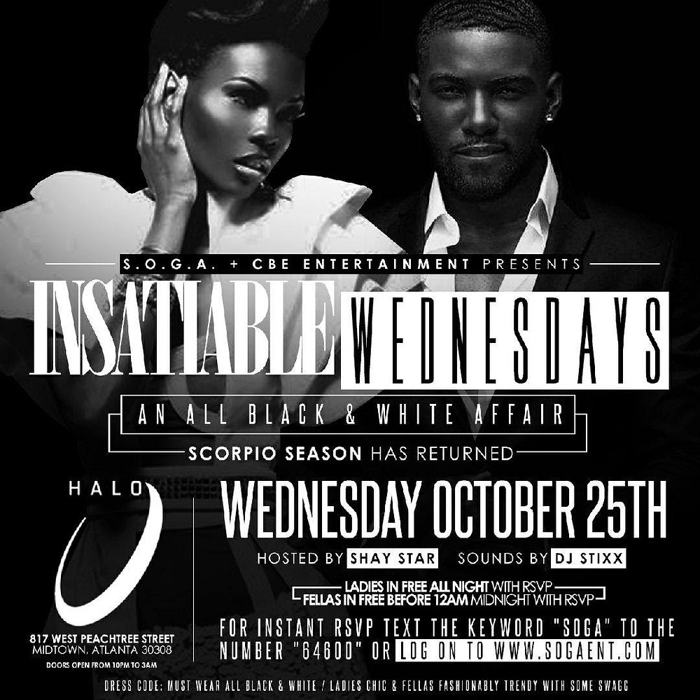 This Wednesday @ It's an All Black & White Affair @ Halo Lounge