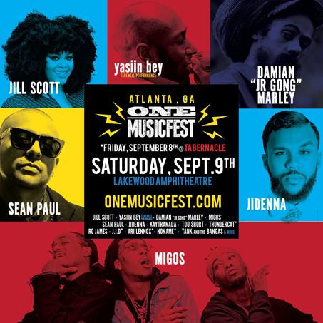 ONE Musicfest - Featuring Jill Scott, Yasiin Bey (Mos Def), Migos, Jidenna, Too Short, Sean Paul, Da