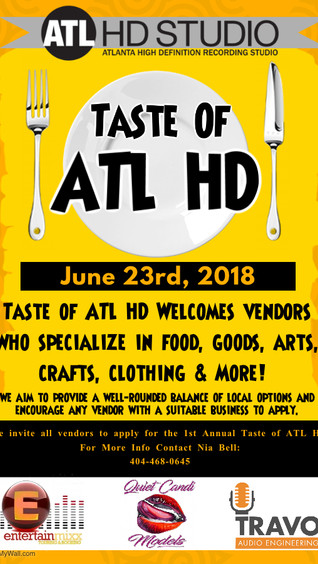 TASTE OF THE CITY (ATL) (VENDORS, PERFORMERS) June 23rd