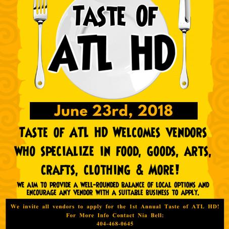 TASTE OF THE CITY (ATL) (VENDORS, PERFORMERS) June 23rd