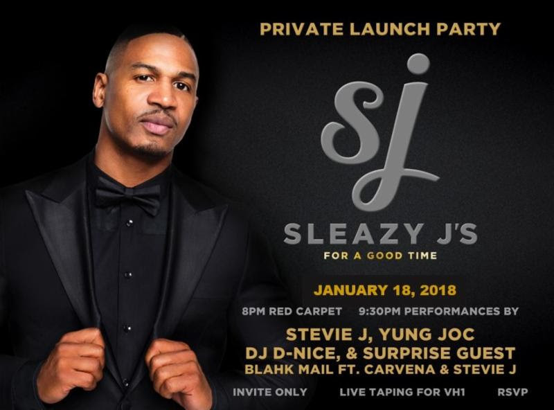 """Sleazy J's"" Launch Party Moved to Thurs 1/18/18; RSVP Today"