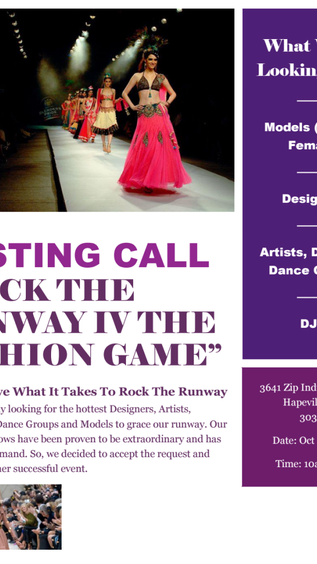 CASTING CALL (FASHION SHOW) ROCK THE RUNWAY 4