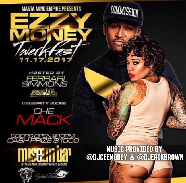 "Nov 17th Streetz 94.5's Ferrari Simmons  VH1's Tiffany Foxx & Che Mack Host Ezzy Money ""Twerk Fest"""