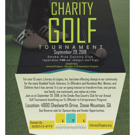 Literacy to Legacy Presents the Charity Golf Tournament--September 29th
