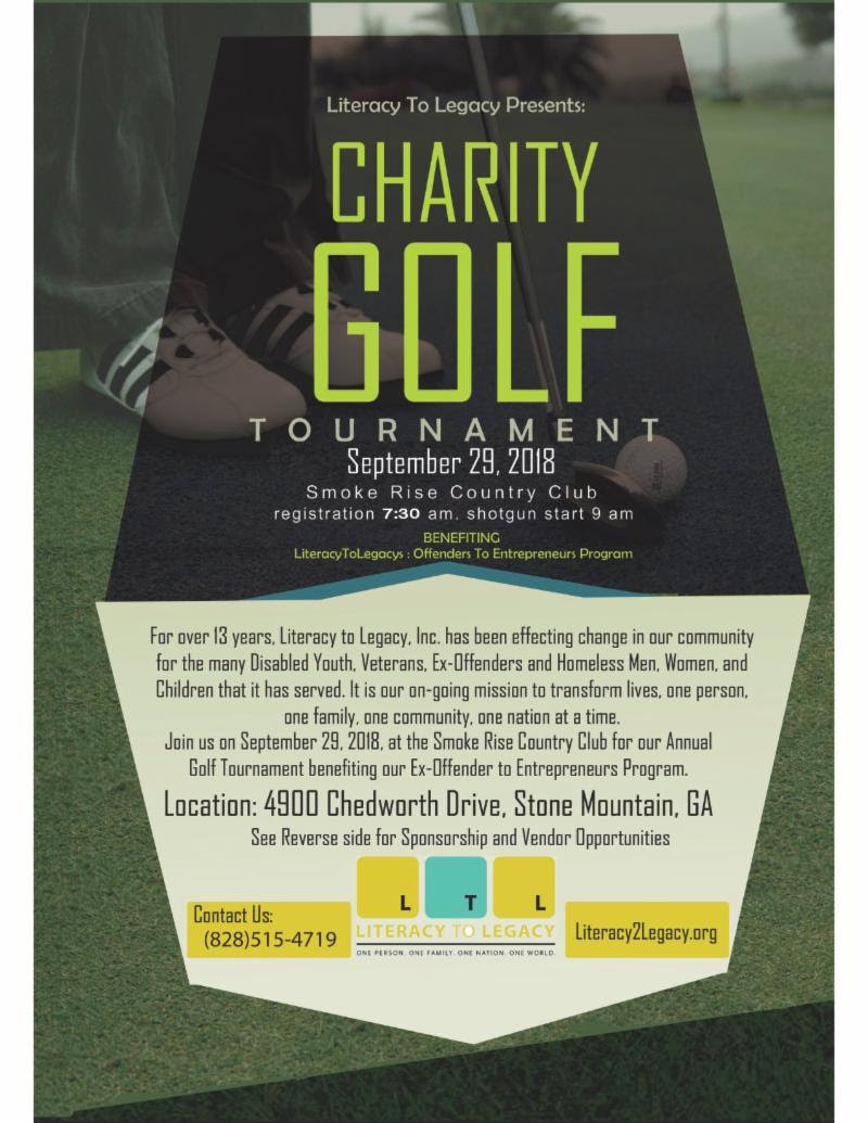 Literacy to Legacy Charity Golf Tournament