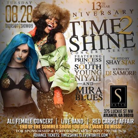 13th ANNIVERSARY TIME2SHINE CONCERT FEATURES ALL FEMALE LINE-UP