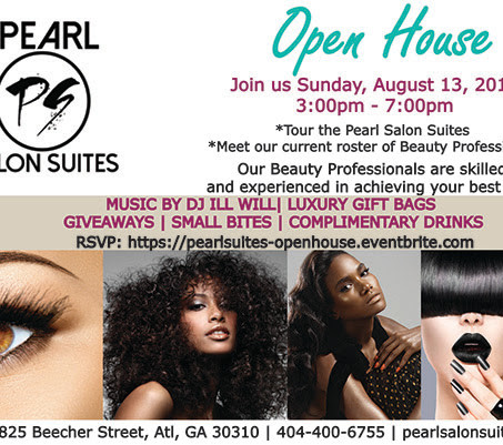 Join us for The Pearl Salon Suites Open House Sunday August 13th (3pm-7pm)