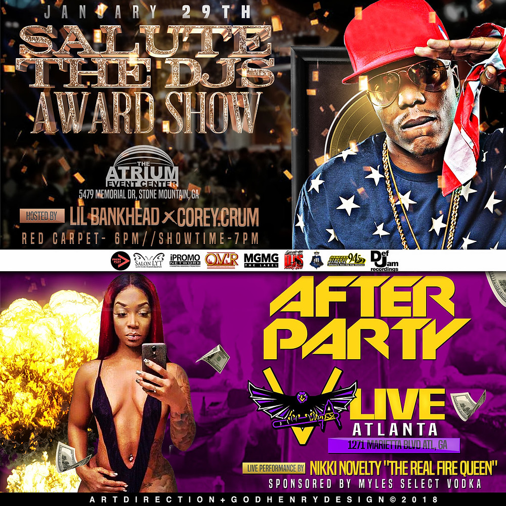 SALUTE THE DJS AWARD SHOW JAN 27-29, 2018!